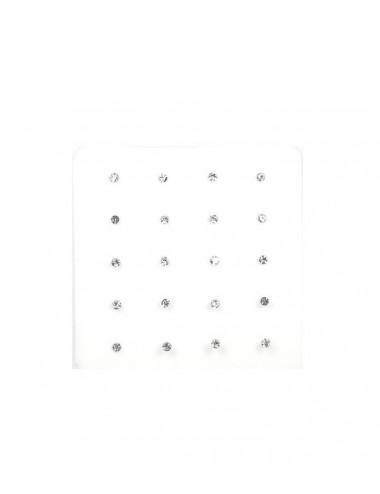 Nariz Barra Brillante 1.5mm Blanco - pack